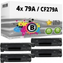 4x Alternativ HP Toner 79A / CF279A Schwarz Multipack