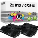 2x Alternativ HP Toner CF281X 81X Schwarz