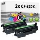 Alternativ HP Set 2x Toner 653X CF320X Schwarz