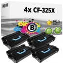 Alternativ HP Set 4x Toner 25X CF325X Schwarz