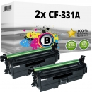 Alternativ HP Set 2x Toner 654X CF330X Schwarz