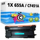 Alternativ HP Toner 655A / CF451A Cyan