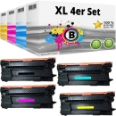 Set 4x Alternativ HP Toner 657X CF470X CF471X CF472X CF473X