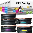 Set 5x Alternativ HP Toner 657X CF470X CF471X CF472X CF473X