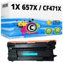 Alternativ HP Toner 657X / CF471X Cyan