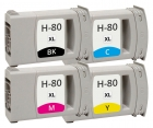 Alternativ HP Set 4x Patrone 80 Mehrfarbig