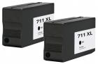 Alternativ HP Druckerpatronen 711 Schwarz Doppelpack