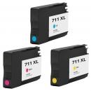 Alternativ HP Set 3x Druckerpatronen 711 Cyan Magenta Gelb