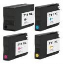 Alternativ HP Set 4x Druckerpatrone 711 Mehrfarbig