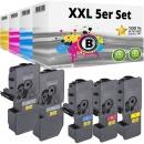 Set 5x Alternativ Kyocera Toner TK-5220 Mehrfarbig