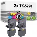 2x Alternativ Kyocera Toner TK-5220BK Schwarz