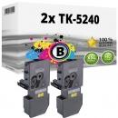 2x Alternativ Kyocera Toner TK-5240BK Schwarz