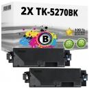 2x Alternativ Kyocera Toner TK-5270K 1T02TV0NL0 Schwarz