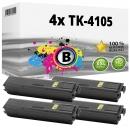 Alternativ Kyocera Set 4x Toner TK-4105 1T02NG0NL0 Schwarz
