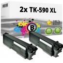 2x Alternativ Kyocera Toner TK-590K XL Schwarz
