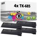 Alternativ Kyocera Set 4x Toner TK-685 / 1T02K50NL0 Schwarz
