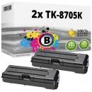 Alternativ Kyocera Set 2x Toner TK-8705K 1T02K90NL0 Schwarz