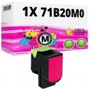 Alternativ Lexmark Toner 71B20M0 Magenta