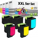 Set 5x Alternativ Lexmark Toner 800S1 800S2 800S3 800S4
