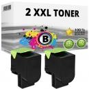 2x Alternativ Lexmark Toner 800S1 80C0S10 Schwarz XL