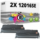 Set 2x Alternativ Lexmark Toner 12016SE E120 Schwarz