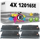 Set 4x Alternativ Lexmark Toner 12016SE E120 Schwarz