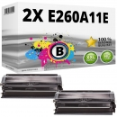 Set 2x Alternativ Lexmark Toner E260A11E Schwarz
