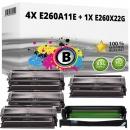 Set Alternativ Lexmark Toner 4x E260A11E + Trommel E260X22G