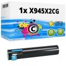 Alternativ Lexmark Toner X945X2CG Cyan