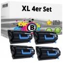 Set 4x Alternativ OKI Toner 45439002 XL Schwarz