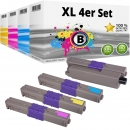 Set 4x Alternativ OKI Toner 46508712 46508711 46508710 46508709