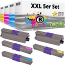 Set 5x Alternativ OKI Toner 46508712 46508711 46508710 46508709