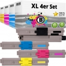 Set 4xAlternativ OKI Toner 46490608 46490607 46490606 46490606