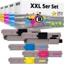 Set 5xAlternativ OKI Toner 46490608 46490607 46490606 46490606