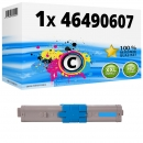 Alternativ OKI Toner 46490607 Cyan