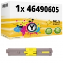 Alternativ OKI Toner 46490605 Gelb