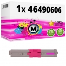 Alternativ OKI Toner 46490606 Magenta