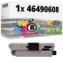 Alternativ OKI Toner 46490608 Schwarz