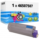 Alternativ OKI Toner 46507507 Cyan