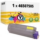 Alternativ OKI Toner 46507507 Gelb