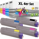 Set 4x Alternativ OKI Toner 46507508 46507507 46507506 46507505