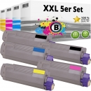 Set 5x Alternativ OKI Toner 46507508 46507507 46507506 46507505