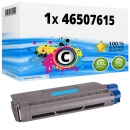 Alternativ OKI Toner 46507615 Cyan