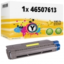 Alternativ OKI Toner 46507613 Gelb