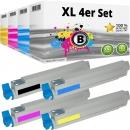 Set 4x Alternativ OKI Toner 44036024 44036023 44036022 44036021