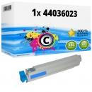 Alternativ OKI Toner 44036023 Cyan