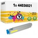 Alternativ OKI Toner 44036021 Gelb
