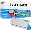 Alternativ OKI Toner 43324431 Cyan