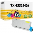 Alternativ OKI Toner 43324429 Gelb
