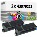 2x Alternativ OKI Toner 43979223 Schwarz